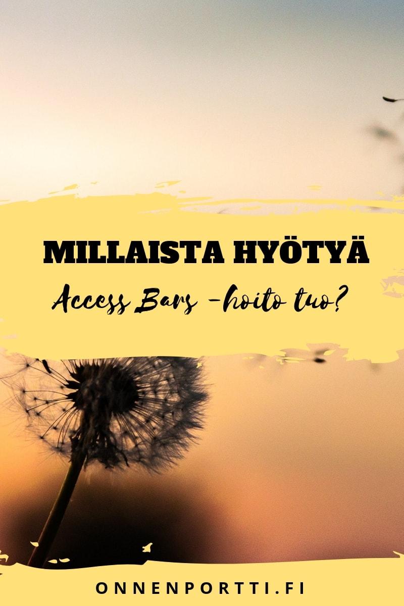 Access Bars -hoidon hyöty